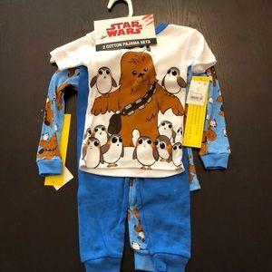 NWT - Disney Star Wars Pajamas 2T